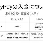 PayPay加盟店へ入金についての変更点20190510